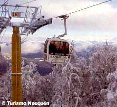 Skiing in Cerro Chapelco