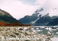 Desprendimientos de Glaciar sobre el Lago Onelli