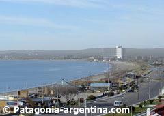 Vista de Puerto Madryn y el Golfo Nuevo