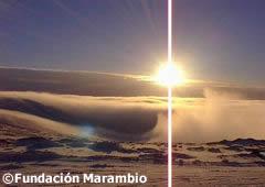 Sunset in the Artarctica
