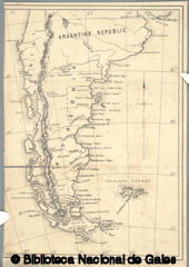 Ancient map of Patagonia