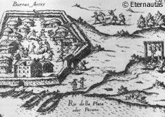 Buenos Aires fort besieged by the indigenous people from the area
