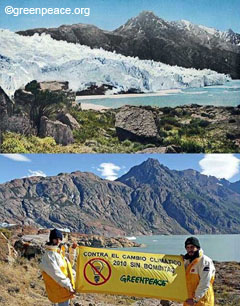 Comparison of the state of the Viedma glacier between 1930 and today