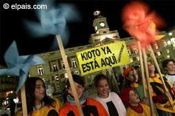 Celebración en Madrid por la puesta en efecto del Protocolo de Kyoto en 2005
