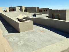 Terraces and patios of the new interpretation center of Punta Tombo.