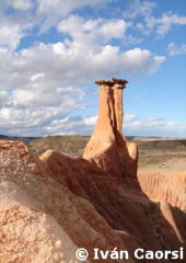 Strange geological formations in Petrified Forest José Ormachea