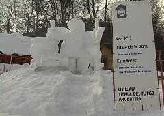 Snow Sculpture Contest in Ushuaia