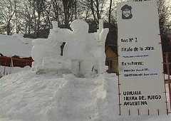 Certamen de esculturas de nieve - Ushuaia
