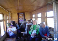 Interior of the wagons