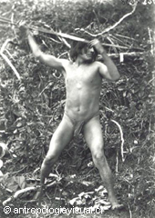 At Wulaia or the Tierra del Fuego (Fire Land), natives used to live naked