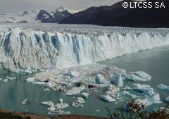 Eclipse solar en los glaciares