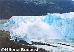 The fracture of Perito Moreno Glacier