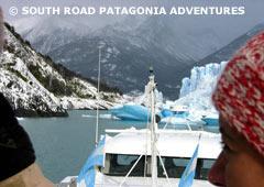 Approaching Perito Moreno Glacier