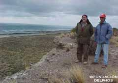 Delphos Foundation Researchers  on the top of the Fort