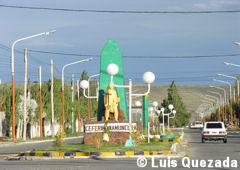 Centro de Gobernador Gregores y monumento a Ceferino Namuncurá