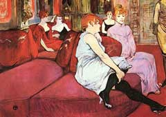 Painting of Toulousse Lautrec