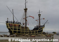 The Victoria, a replica in Puerto San Julian