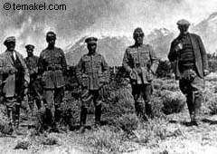 Part of the troops of Varela who executed hundreds of workers at the Estancia La Anita