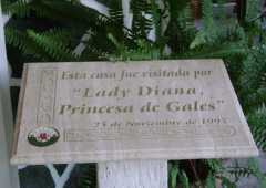 Lady Di memorial plaque - Tea House - Gaiman