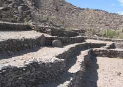 Detalle de la reconstrucción de los muros en las Ruinas de Quilmes