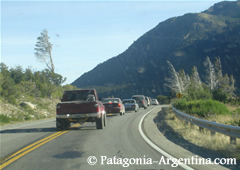 The road between Villa La Angostura and Bariloche