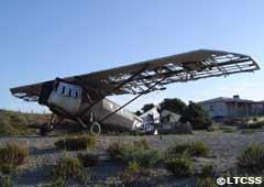 El avión de Saint Exupéry antes de ser restaurado
