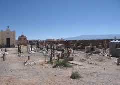Graves and apachetas in Cementery of Cachi - Northern Argentina