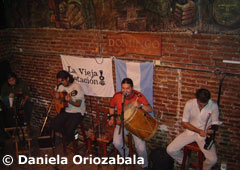 "Typical ""Peña"" (spontaneous folklore music show) in a bar - Salta"