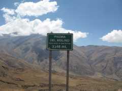 Piedra del Molino, the highest point of Cuesta del Obispo