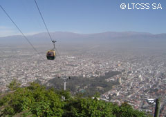 From the cable railway it is possible to contemplate an outstanding view of Salta city