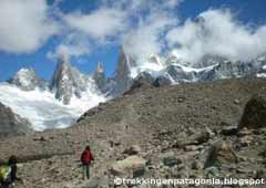 Climbing up road to the Fitz Roy