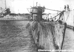 Imagen del submarino U-977