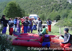 Preparation of the boats - Another way of navigating Beagle Channel