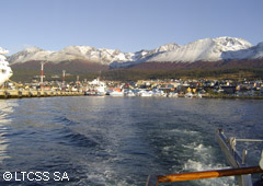 View of the Ushuaia city