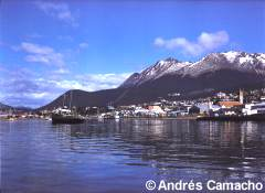 View of the city of Ushuaia