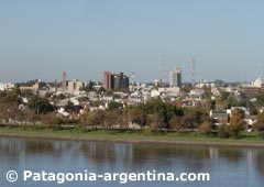 Panoramic view of Viedma