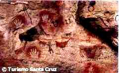 Pinturas rupestres originales y réplicas en Punta Walichu