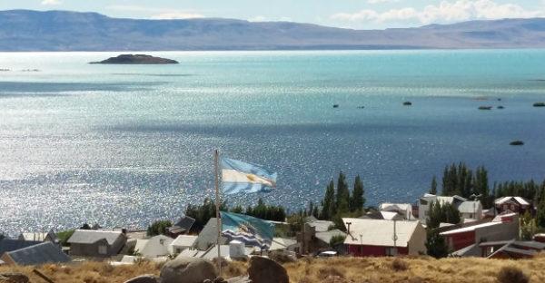 Vista Lago Argentino desde El Calafate