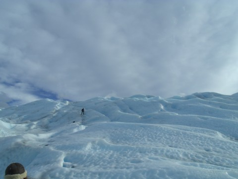 Walking over the Glacier