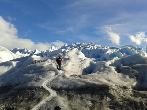 Caminando sobre el Glaciar
