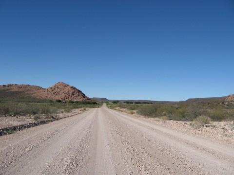 Ruta 23, sin asfaltar