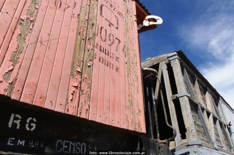 Vagones de madera de La Trochita
