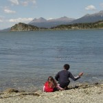 Playing facing Beagle Channel - Ushuaia - End of the World