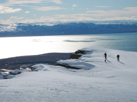 Backcountry skiing - El Calafate Mountain Park - Patagonia Argentina