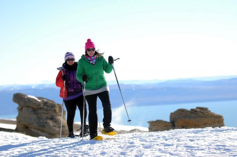 Journey in Snowshoes - Calafate Mountain Park - Patagonia Argentina.