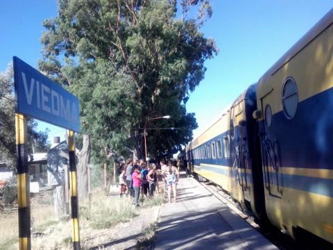 Tren Patagónico en la estación de Viedma