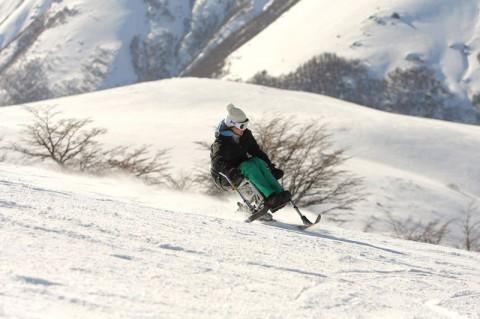 Adapted Ski at Cerro Bayo. Photo cerrobayo.com.ar