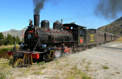 The Trochita old locomotive up and running- Photo Corporación de Fomento - Chubut