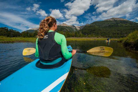 Kayak en Laguna Verde - Junín de los Andes - Foto: junindelosandes.gov.ar