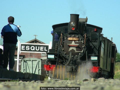 La Trochita en la estación de Esquel - Foto: Libros de viaje